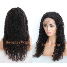 Brazilian human hair Jerry Curl  full lace silk top wig--BYC235