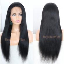 brazilian virgin human hair light yaki glueless lace front wig --BYC675