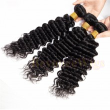 100% Virgin human hair deep wave machine weft--BYC785