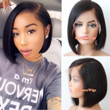 "brazilian virgin human hair 6"" lace front parting short cut summer bob--BYC567"