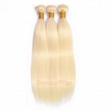 100% Virgin human hair 613 color silk straight machine weft--BYC783