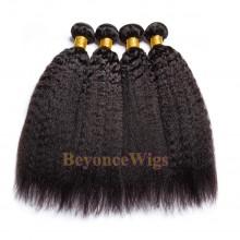 100% Virgin human hair kinky straight machine weft--BYC782