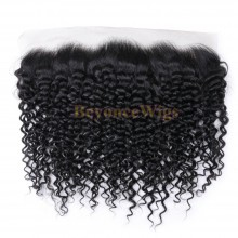 100% virgin human hair curly 13*4 lace frontal--BYC713