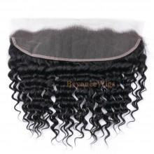 100% virgin human hair deep wave 13*4 lace frontal--BYC714