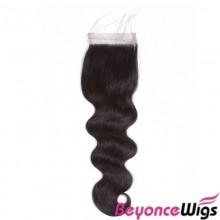 100% virgin human hair  body wave 4*4 lace closure--BYC721
