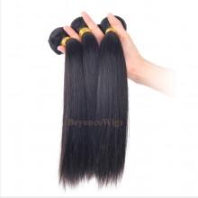 100% Virgin human hair  silk straight machine weft--BYC786