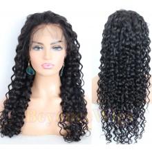 Brazilian human hair deep wave glueless full lace silk top wig--BYC237