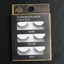 3 pcs of Eyelashes 3D  False lashes--Y001