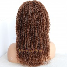brazilian virgin human hair Jerry curl glueless lace front wig --BYC672