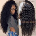 Brazilian human hair Pre plucked bleached kinky curl 360 lace wig--BYC341