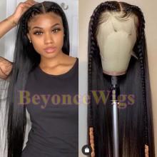 100% Brazilian virgin silk straight glueless 370 lace wig--BYC901