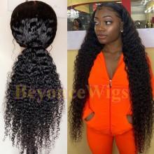 100% Brazilian virgin deep curly glueless 370 lace wig--BYC903