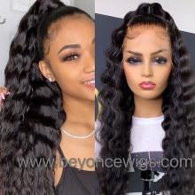 100% Brazilian virgin loose curl glueless 370 lace wig--BYC905