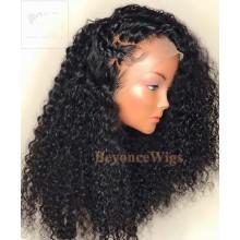 100% Brazilian virgin kinky curl glueless 370 lace wig--BYC906
