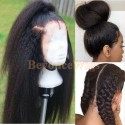 Brazilian human hair kinky straight glueless full lace silk top wig--BYC240