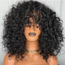 Ready to wear Bang curly 360 frontal wig - BYC335
