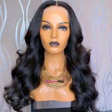 Brazilian human hair Pre plucked bleached body wave 360 lace wig--BYC346