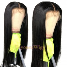 Brazilian human hair Pre plucked bleached silky straight 360 lace wig--BYC342