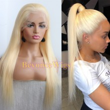 Brazilian human hair 613 color silky straight Gluless full lace wig--BYC229