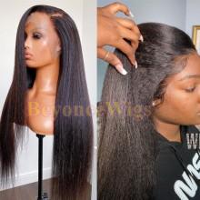 brazilian virgin kinky straight Pre-made pre-plucked fake scalp wig--BYC103