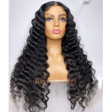 brazilian virgin loose curl Pre-made pre-plucked fake scalp wig--BYC106