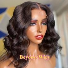 brazilian virgin Pre-made pre-plucked fake scalp wave bob--BYC107