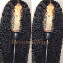 100% human hair 5*5 HD closure deep curly wig--BHD001