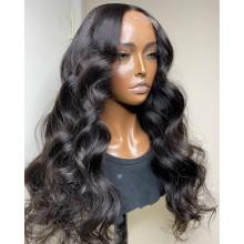 100% human hair 5*5 HD closure loose  wave wig--BHD003