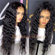 100% human hair 5*5 HD closure loose curl wig--BHD008