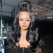 100% human hair 5*5 HD closure loose body wave wig--BHD002