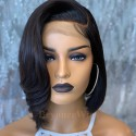 100% human hair 5*5 HD closure side parting vibe bob wig--BHD99
