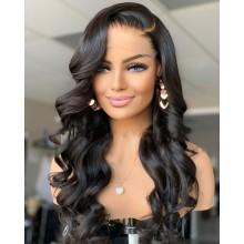 100% human hair 5*5 HD closure loose body wave wig--BHD101