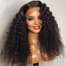 100% human hair 5*5 HD closure wet wave wig--BHD102