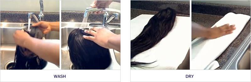 wash a wigs